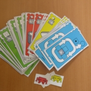 instruction cards for coding board game
