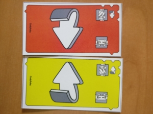 board game cards for robot instructions