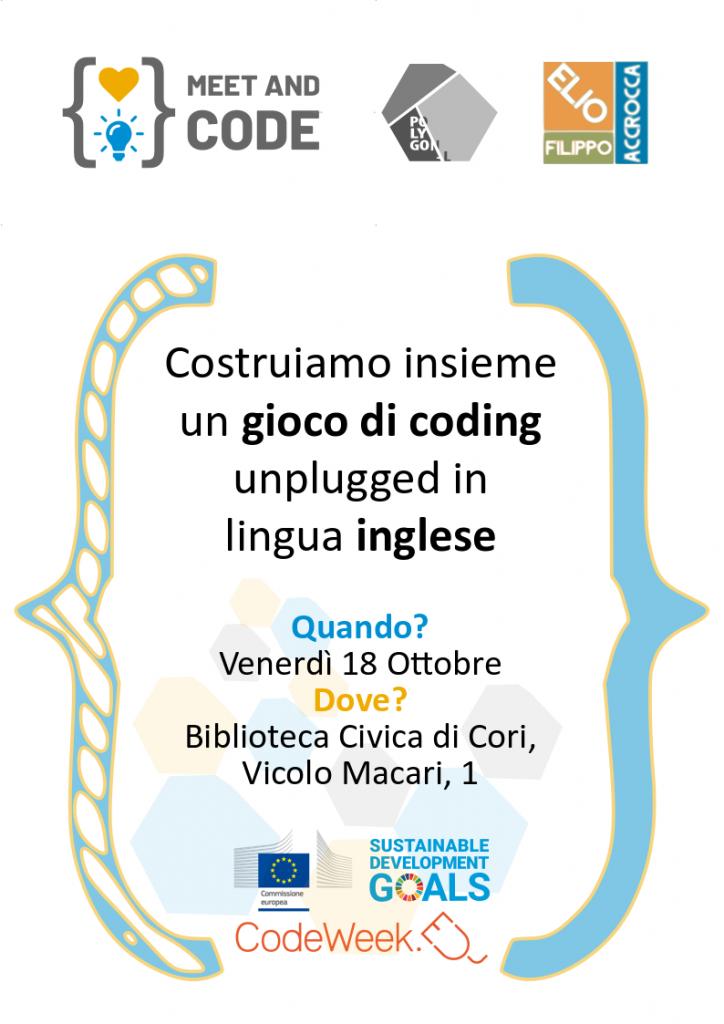 evento con Meet and Code nella biblioteca comunale di Cori Elio Filippo Accrocca