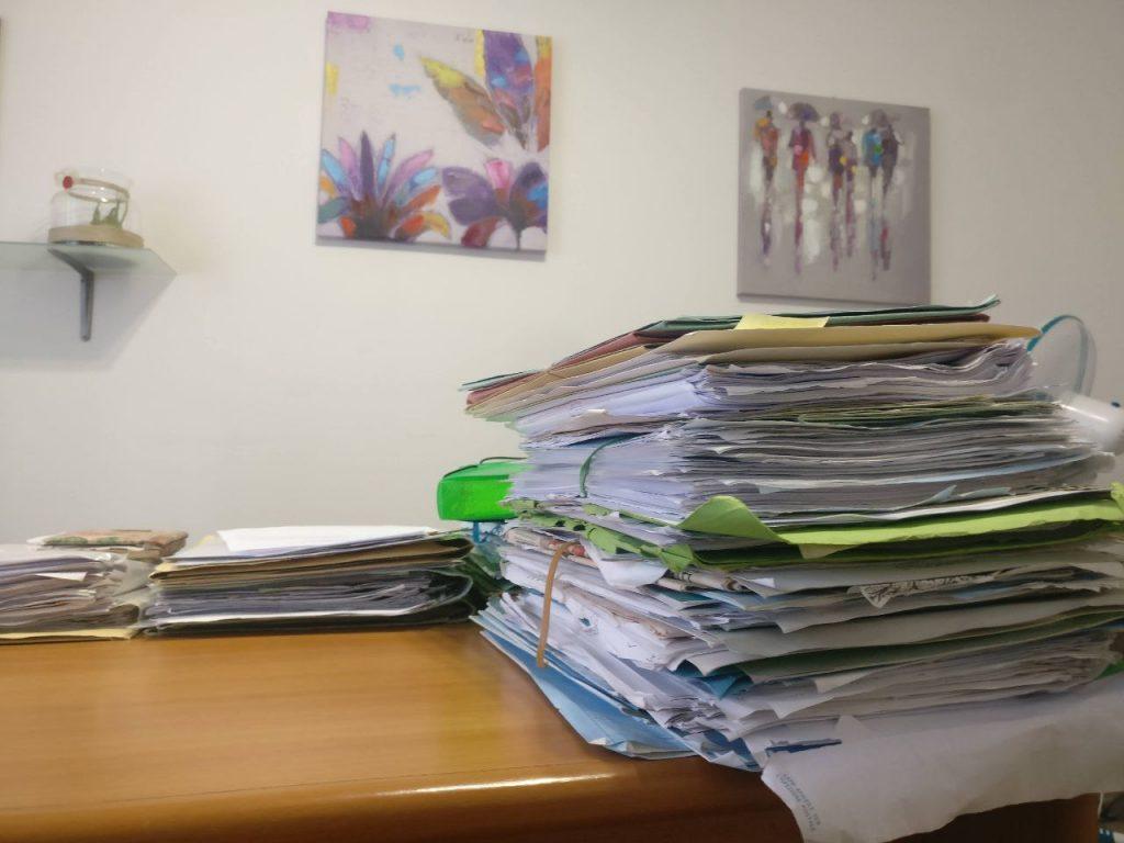 materiale documentazione bilancio di un'associazione
