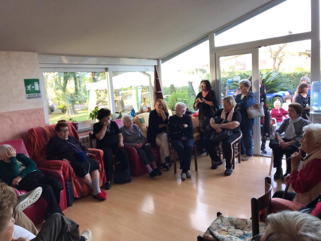 giornata insieme alla casa di riposo a Giulianello per il progetto OpenCori e con Toponomastica Femminile